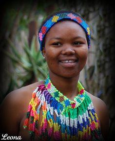 Africa | A young Zulu.  Kwabekitunga.  KwaZulu Natal.  South Africa | ©Leona Biskie