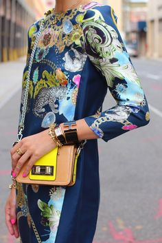 Color palette - Tibi Dress and Rebecca Minkoff Purse