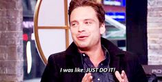 I was like, JUST DO IT! || Sebastian Stan || #actors #quotes