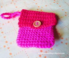 I'm a proud crafter: Free Crochet Coin Purse pattern