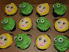 "Plumeria Cake Studio: ""Tangled"" Rapunzel Cupcakes & Mini Cake"