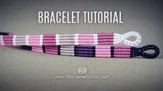 Striped Macramé Bracelet Tutorial #DIY #Macrame #Bracelet #Tutorial #Striped #Fashion #Jewelry #Knot #Craft