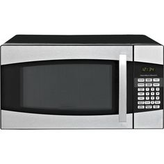 Microwave Oven Black Kitchen Touch Pad Control Stainless Steel 0.9 Cu Ft 900W #MicrowavesHome