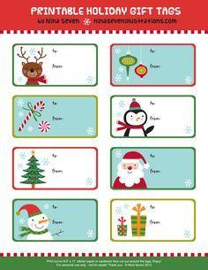 Print free editable christmas gift tags