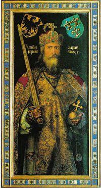 Dürer karl der grosse - カール大帝 - Wikipedia 日本ではカール大帝の名が世界史の教科書などでも一般的に使用されている。フランス語のシャルルマーニュが、フランスの古典叙事詩や歴史書などからの翻訳でよく知られている。カール大帝の死後に、フランク王国が分裂してのちに誕生した神聖ローマ帝国・フランス王国・ベネルクス・アルプスからイタリア半島の国々の歴史を見るとき、彼は中世以降のキリスト教ヨーロッパの王国の太祖として扱われている
