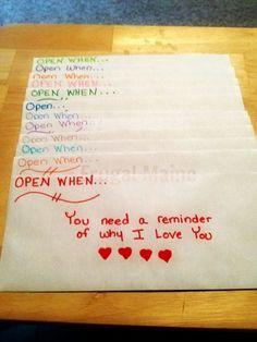 Open When Letters for Boyfriend.