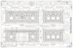 The Resolute Desk Blueprints by Kenneth Perez, via Behance