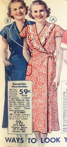 1930s House dress