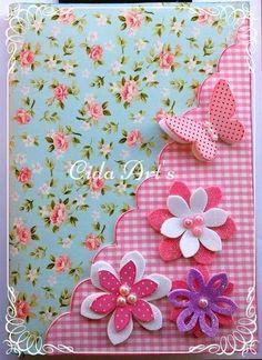 caderno emborrachado e.v.a eva borboletas caderno decorado em eva - by cida Arts: