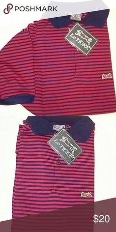 NWT Le TIGRE XL POLO NWT Le TIGRE XL POLO RED AND NAVY BLUE Le TIGRE Shirts Polos