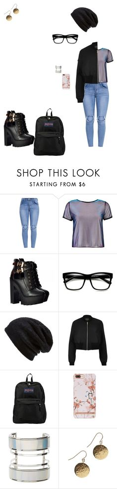 """""""N™"""" by bribriwiggins ❤ liked on Polyvore featuring Boohoo, Barefoot Dreams, River Island, JanSport and Charlotte Russe"""