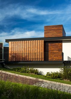 Image 4 of 16 from gallery of Ro House / Alexanderson Arquitectos. Courtesy of Alexanderson Arquitectos Brick Architecture, Residential Architecture, Contemporary Architecture, Architecture Details, Interior Architecture, Brick Design, Facade Design, House Design, Brick Facade