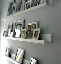 An interesting idea for photos frames.  I don't know if I have the right wall for these, but maybe in the future. #photos