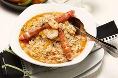 Receita de Arroz de camarão. Descubra como cozinhar Arroz de camarão de maneira prática e deliciosa com a Teleculinaria!