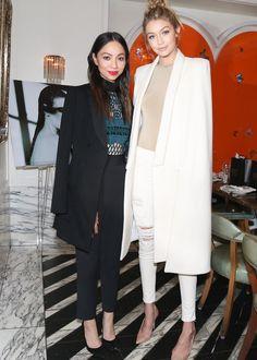 Monica Rose and Gigi Hadid