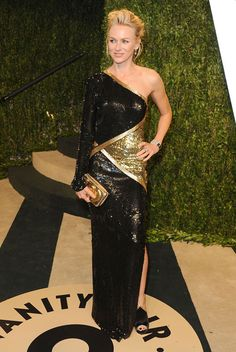 The Vanity Fair Oscar Party 2013 - Naomi Watts in Emilio Pucci with a Chloé clutch