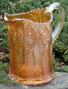 *CARNIVAL GLASS, color Marigold??