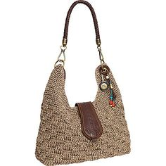 358a96f70fb The Sak Bennett Crochet Bucket Brown Static - The Sak Fabric Handbags  #fabrichandbags Gehaakte Handtassen