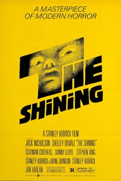 """A young boy and his parents spend the winter in a isolated resort hotel which is possessed by ghosts of its evil past."" Find THE SHINING in our catalog: http://highlandpark.bibliocommons.com/item/show/1452714035_the_shining"