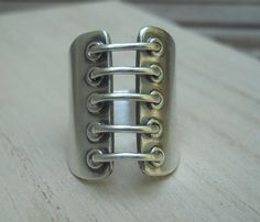 Corset Ring Made to Order Sterling Silver by Q2jewelrycollection