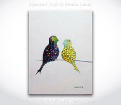 Hey, I found this really awesome Etsy listing at https://www.etsy.com/listing/483218719/love-birds-original-abstract-oil