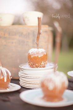 Or a caramel apple bar. | 42 Lovely Ideas For A Cold-Weather Wedding