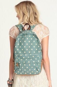 Sweet Adventures Polka Dot Backpack, 2014 Fashion Polka Dot Backpack For Students,Polka Dot Backpack For Students