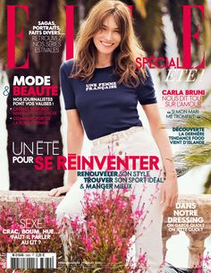 Carla Bruni featured on the Elle France cover from July 2016