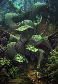 Toujours dans cette idée d'une secte sans éthique. Un de leurs Dragons à 3 tête qui protège : « insérer un objet/lieu à protéger ».