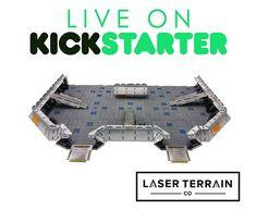 The forward base! Now live on kickstarter! #LaserTerrain #warhammer40k #starshiptroopers #kickstartercampaign #infinitythegame