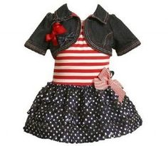 of July outfit mabey make it bigger for woman? 4th Of July Outfits, Kids Outfits, Baby Outfits, My Little Girl, My Baby Girl, Girls Fancy Dresses, Pageant Wear, Birthday Dresses, Affordable Clothes