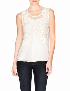Lace Applique Layering Top | Women's Tops | THE LIMITED