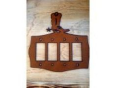 Boot Quad Rocker Lightswitch Cover