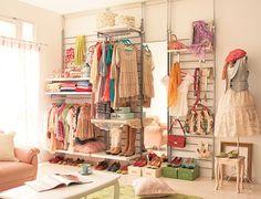 Sweet Blur: Decorando com araras de roupas