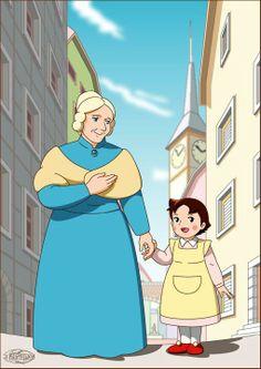 Heidi e Nonna Seseman Heidi Cartoon, Happy Cartoon, Cartoon Tv, Cartoon Characters, Manga Anime, Old Anime, 90s Childhood, Childhood Memories, Cartoons Magazine