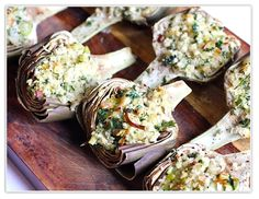 The Italian Dish - Posts - Baked Stuffed Artichokes with Leeks (and Step-by-Step Instructions on How to Trim anArtichoke)