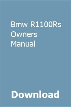 740 best owners manual images on pinterest messages positive download bmw r1100rs owners manual pdf bmw r1100rs owners manual download pdf ebook bmw fandeluxe Image collections