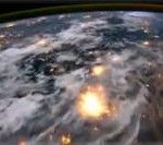 Time-lapse flyover of Earth. 600 photos taken from the international space station are strung together to create a time-lapse flyover of Earth.