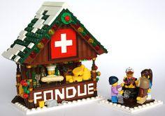 Suisse Village Lego, Lego Christmas Village, Lego Winter Village, Christmas Villages, Lego Design, Lego Boards, Lego Modular, Cool Lego Creations, Lego House