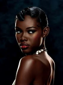 Bridesmaid Make-Up Look 2: This is a nice hairstyles and make-up look for someone with darker skin. Who knows but you who could be your bridesmaids. You might have friends of various backgrounds. I just helping pick out make-up looks for dark complexion.