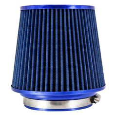 """TIROL Free Shipping Round Tapered Universal Auto Cold Car Air Intakes 3"""" 76-88-101mm Motorcycle Air Filters (Blue) T10176a #Affiliate"""