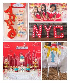Annie Themed Birthday Party
