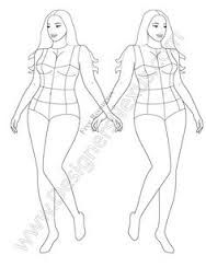 plus size fashion illustration templates - Google Search