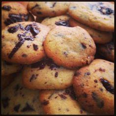 Recept na Pravé americké čokoládové cookies. #cookies #recept #sušienky
