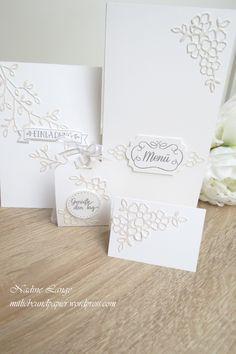Stampin' Up! Blütentraum Hochzeit selbstgemacht Karten Einladung Menü Gastgeschenke Namenskärtchen Etikett für jede Gelegenheit