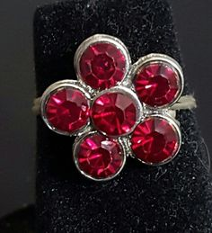 NIP Ruby Color Austrian Crystals Flower Shaped Stretch Toe Ring | Jewelry & Watches, Fashion Jewelry, Toe Rings | eBay!