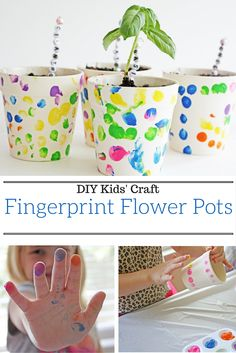 This is the perfect spring craft idea for kids that will get them excited about creating their very own garden. These DIY flowerpots also make for a great Mother's Day gift! Get all the details from @ellaandannie