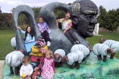 """Marcelle Soviero's Family (Editor-in-Chief): """"Our trip to the sculpture museum was the first time my children met the little boy and girl who would become their step siblings."""""""