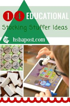 A list of 14 great educational stocking stuffer ideas for your kids this Christmas.