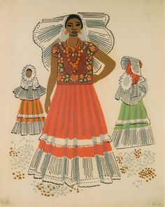 Miguel Covarrubias illustration of Mexican costume